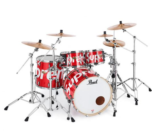 Supreme x Pearl Drum Set