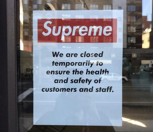 Supreme Store Closed