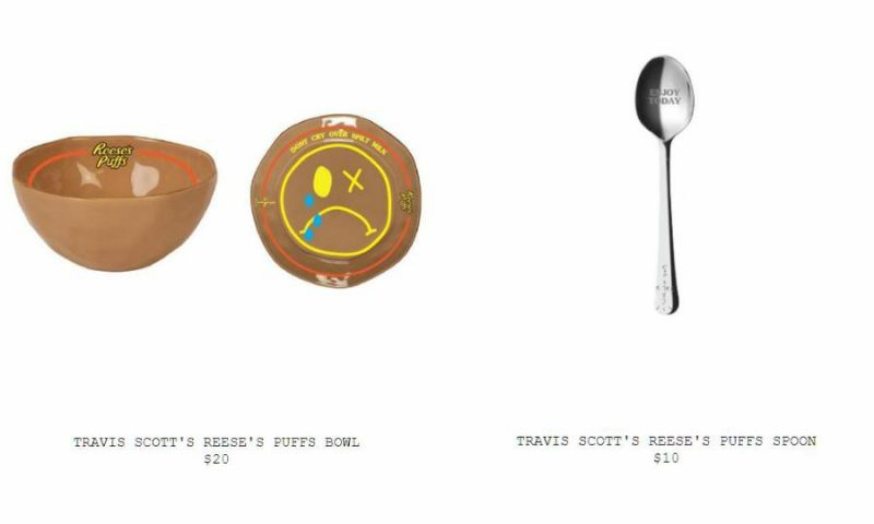 Travis Scott x Reese's Puffs Bowl and Spoon